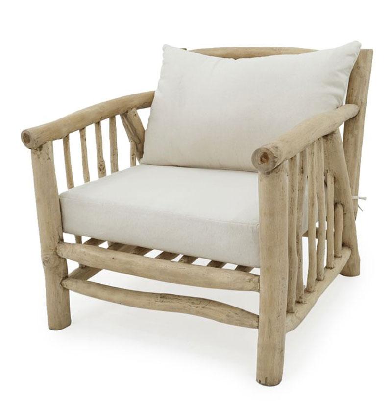 Deka 1 Seater Teak Branch Furniture